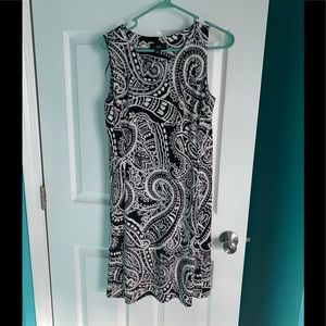 Women's Black and White AGB dress size 6
